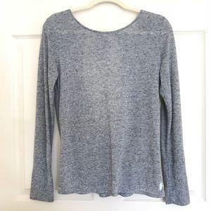 Victoria Secret Gray open Back blouse small